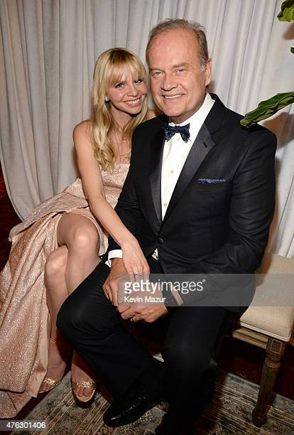 Kayte Walsh and Kelsey Grammer attend the 2015 Tony Awards at Radio City Music Hall on June 7 2015 in New York City