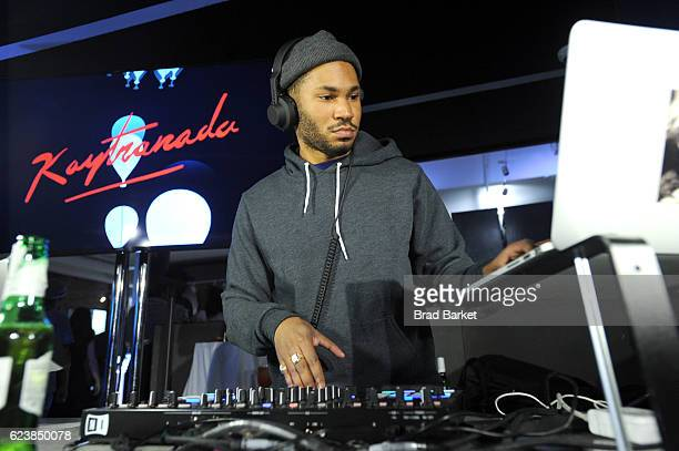 Kaytranada performs at the Canada Goose New York City Flagship Store opening on November 16 2016 in New York City