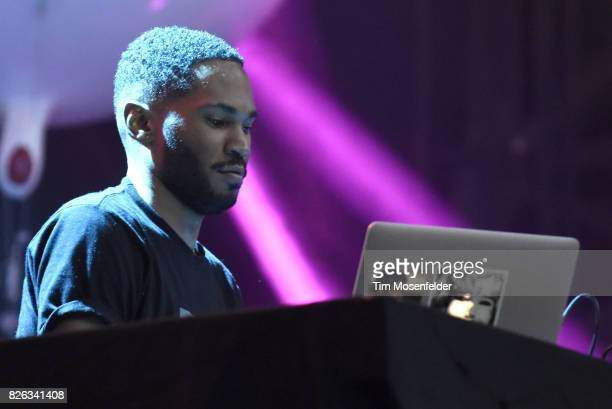 Kaytranada performs during Lollapalooza 2017 at Grant Park on August 3 2017 in Chicago Illinois