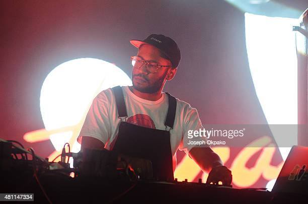 Kaytranada performs on Day 1 of Lovebox festival taking place at Victoria park on July 17 2015 in London United Kingdom