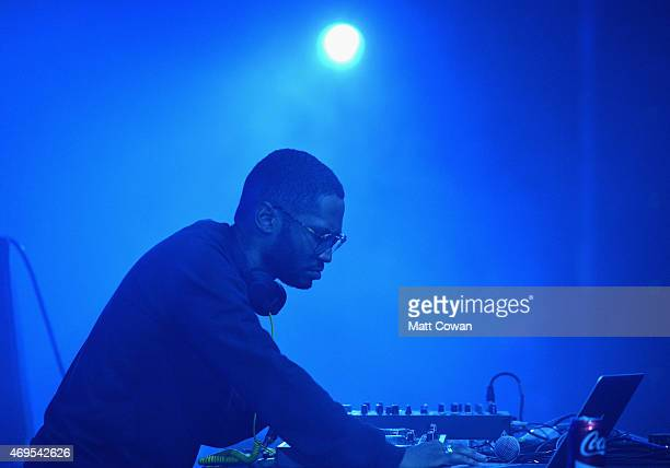Kaytranada performs onstage during day 3 of the 2015 Coachella Valley Music Arts Festival at the Empire Polo Club on April 12 2015 in Indio California