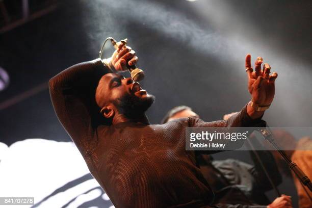 Kayus Bankole of Young Fathers performs at Electric Picnic Festival at Stradbally Hall Estate on September 1 2017 in Laois Ireland