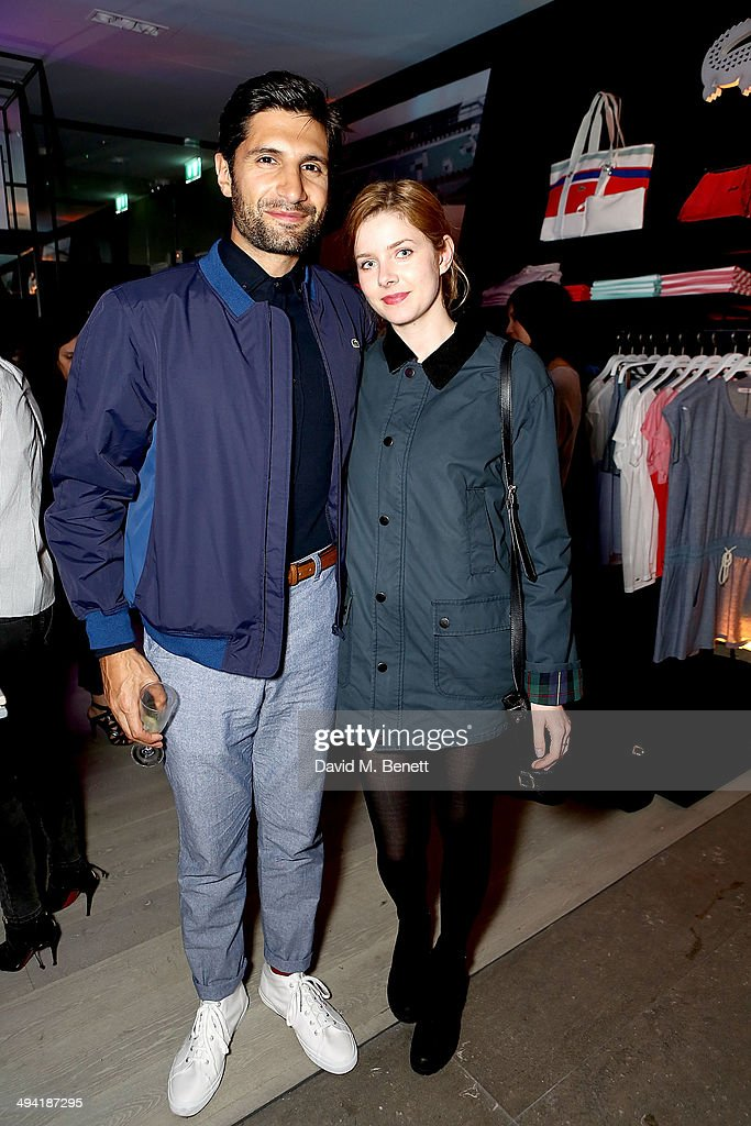 Kayvan Novak and Rachel Hurd-Wood attend the Lacoste Store Reopening on May 28, 2014 in London, England.