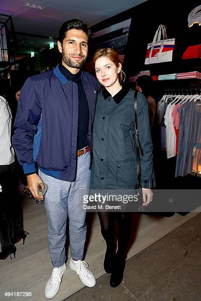 Kayvan Novak and Rachel HurdWood attend the Lacoste Store Reopening on May 28 2014 in London England