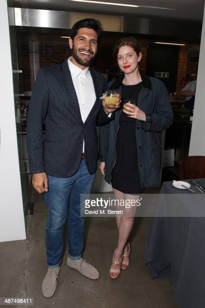 Kayvan Novak and Rachel Hurdwood attend the Whistles menswear launch dinner>> on April 30 2014 in London England