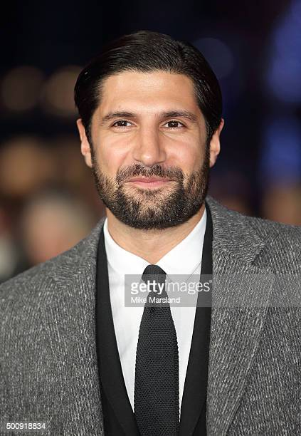 Kayvan Novak attends the European Premiere of 'The Hateful Eight' at Odeon Leicester Square on December 10 2015 in London England