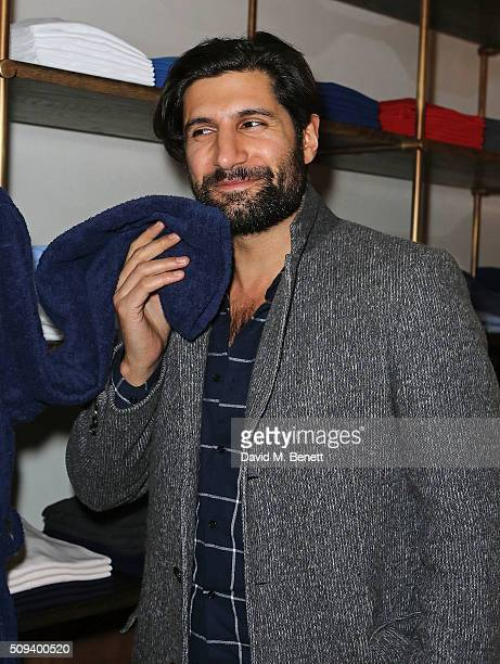 Kayvan Novak attends the launch of Italian restaurant and menswear boutique Chucs on Westbourne Grove on February 10 2016 in London England