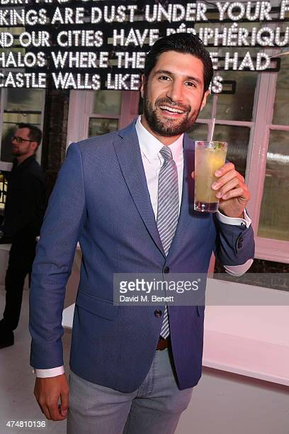 Kayvan Novak attends the Lights of Soho private view on May 26 2015 in London England