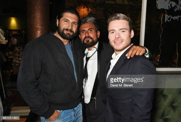 Kayvan Novak Azim Majid and Richard Madden attend the launch of The Curtain in Shoreditch on May 11 2017 in London England