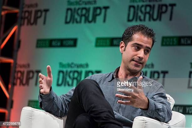 Kayvon Beykpour cofounder and chief executive officer of Periscope speaks during the TechCrunch Disrupt NYC 2015 conference in New York US on Tuesday...