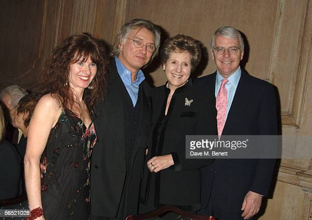 Kaz De Silva actor Martin Shaw Norma Major and former prime minister John Major attend the after show party following the opening night of Bill...