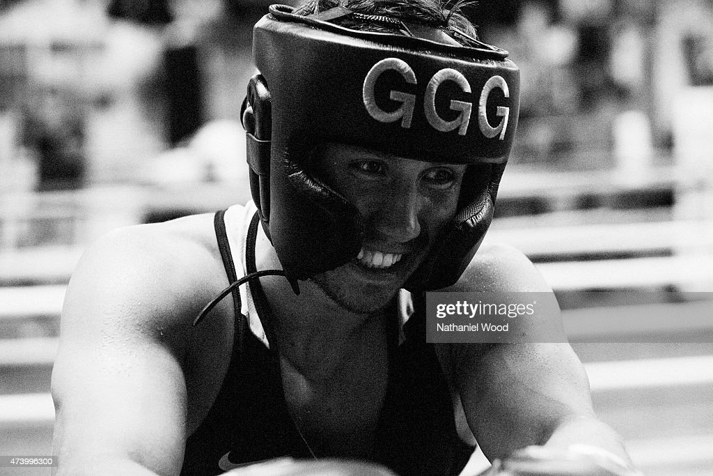 BIG BEAR, CA - NOVEMBER 01, 2014 - Kazakh boxer <a gi-track='captionPersonalityLinkClicked' href=/galleries/search?phrase=Gennady+Golovkin&family=editorial&specificpeople=10619206 ng-click='$event.stopPropagation()'>Gennady Golovkin</a> is photographed for Men's Fitness on November 1, 2014 in Big Bear, California.