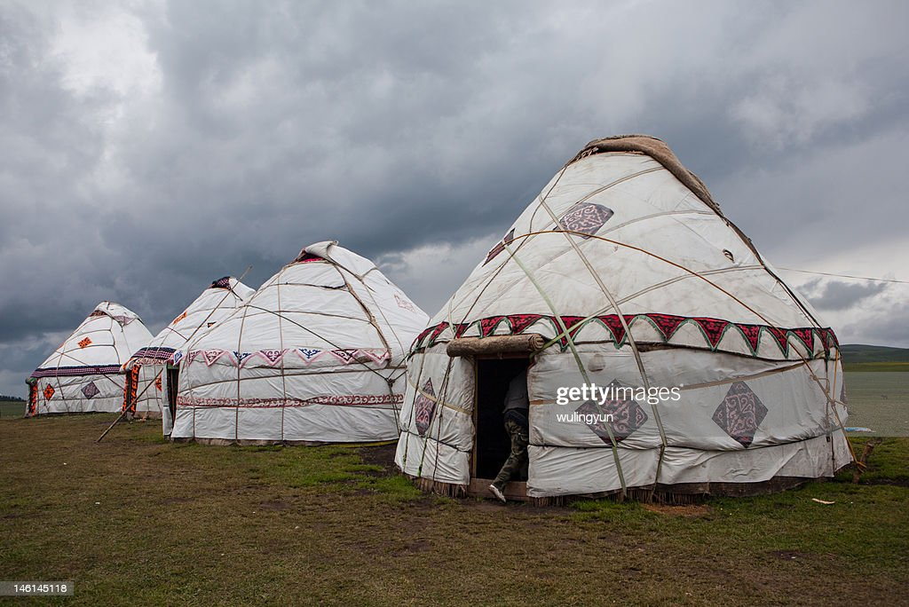 Kazakh's yurts : Stock Photo