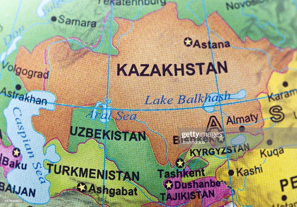 Kazakhstan and neighbor countries : Stock Photo