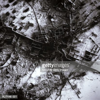 Kazakhstan, Qostanay, satellite view (Enhancement) : Stock Photo