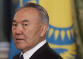 Kazakhstan's President Nursultan Nazarbayev attends a meeting in the Moscow Kremlin on December 19 2011 The unprecedented weekend riots in...