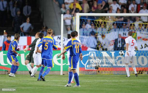 Kazakhstan's Sergey Ostapenko watches his goal ruled offside during the World Cup Qualifying match at Central Stadium Almaty Kazakhstan