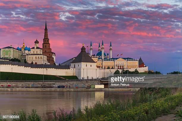 Kazan Kremlin at sunset, Tatarstan Republic, Russia