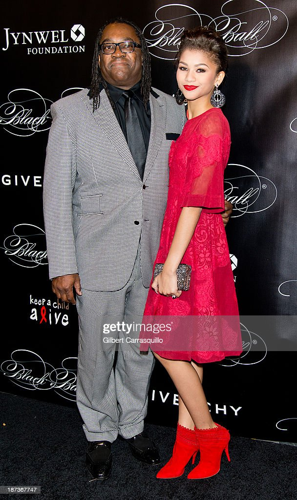 Kazembe Ajamu Coleman and daughter Zendaya attend the 10th annual Keep A Child Alive Black Ball at Hammerstein Ballroom on November 7, 2013 in New York City.