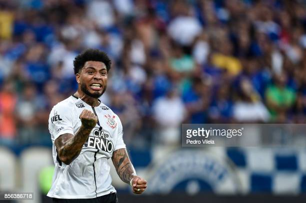 Kazim of Corinthians celebrates a scored goal against Cruzeiro during a match between Cruzeiro and Corinthians as part of Brasileirao Series A 2017...