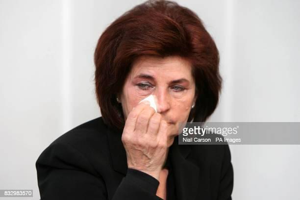 Kazimiera Kwiatkowska mother of Robert Kwiatkowski at a press conference at the Crown Plaza Hotel in Dublin