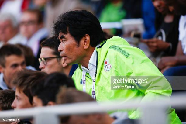 Kazuhiko Funakoshi Coach of Naoto Tobe of Japan High Jump during the Meeting de Paris of the IAAF Diamond League 2017 on July 1 2017 in Paris France