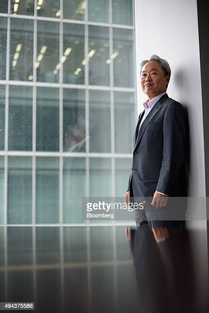 Kazuhiko Toyama chief executive officer of Industrial Growth Platform Inc poses for a photograph in Tokyo Japan on Wednesday Sept 9 2015 Toyama who...