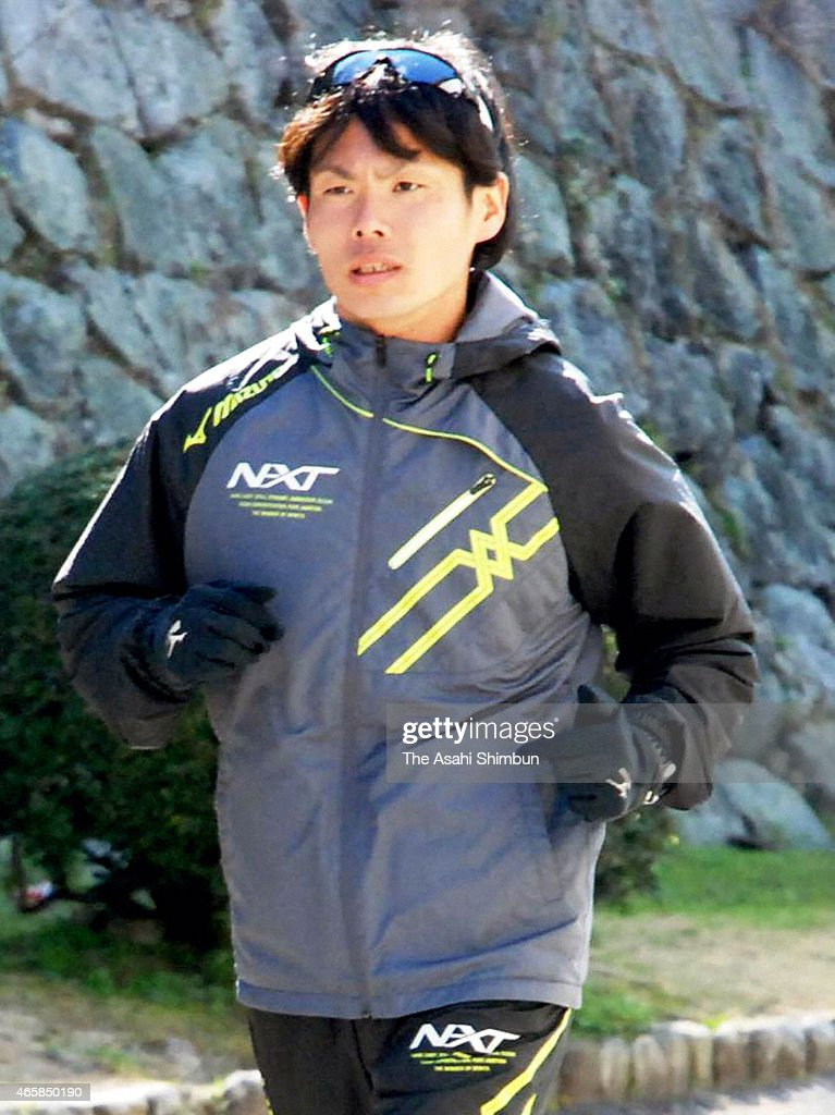 <a gi-track='captionPersonalityLinkClicked' href=/galleries/search?phrase=Kazuhiro+Maeda&family=editorial&specificpeople=4473744 ng-click='$event.stopPropagation()'>Kazuhiro Maeda</a> is seen during a training after the JAAF announced the marathon members for the IAAF World Championships on march 11, 2015 in Fukuoka, Japan.