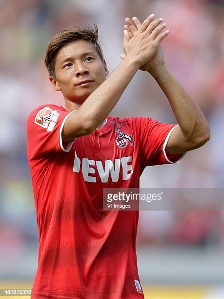 Kazuki Nagasawa of 1 FC Koln during the Colonia Cup match between 1 FC Koln and Valencia on August 2 2015 at the RheinEnergieStadion in Koln Germany