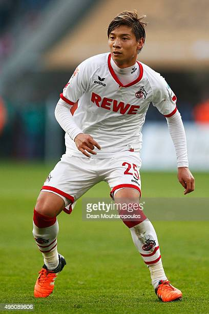 Kazuki Nagasawa of koeln in action during the Bundesliga match between 1 FC Koeln and TSG 1899 Hoffenheim held at RheinEnergieStadion on October 31...