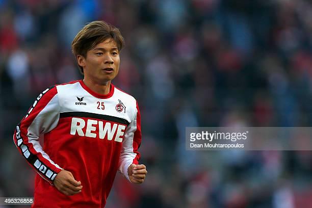 Kazuki Nagasawa of Koeln looks on prior to the Bundesliga match between 1 FC Koeln and TSG 1899 Hoffenheim held at RheinEnergieStadion on October 31...