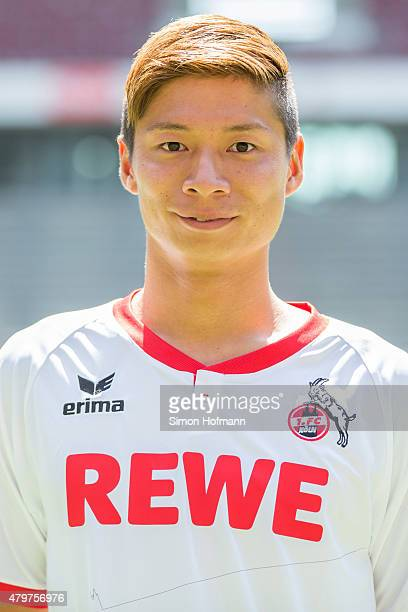 Kazuki Nagasawa poses during 1 FC Koeln Team Presentation at RheinEnergieStadion on July 6 2015 in Cologne Germany