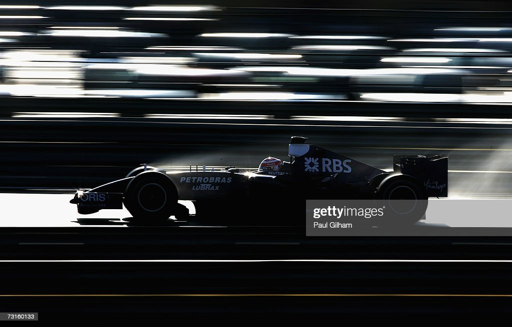 Kazuki Nakajima of Japan and Williams in action during Formula One testing at the Circuit Ricardo Tormo on January 31 2007 in Valencia Spain