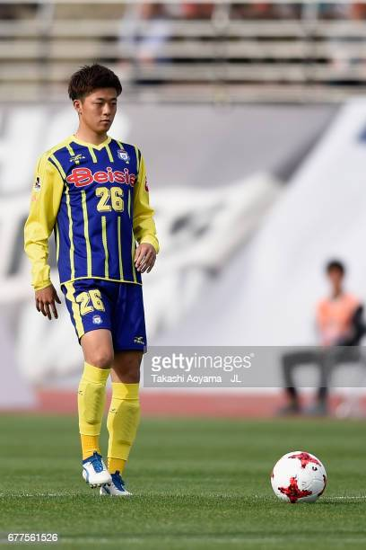 Kazuma Takai of Thespa Kusatsu Gunma in action during the JLeague J2 match between Thespa Kusatsu Gunma and FC Gifu at Shoda Shoyu Stadium on May 3...