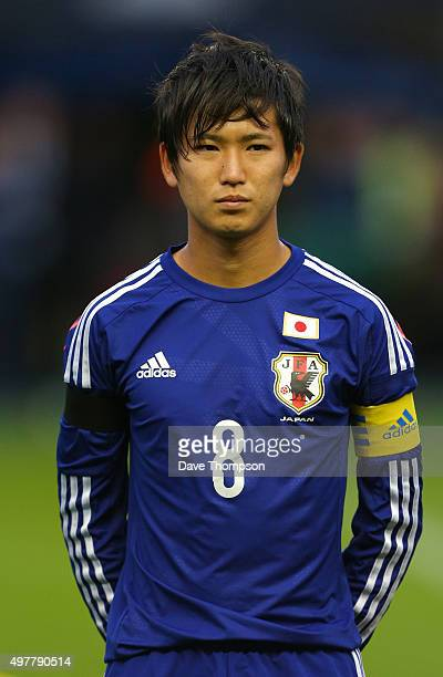 Kazune Kubota of Japan during the U19 International friendly match between England and Japan at Manchester City Academy Stadium on November 15 2015...