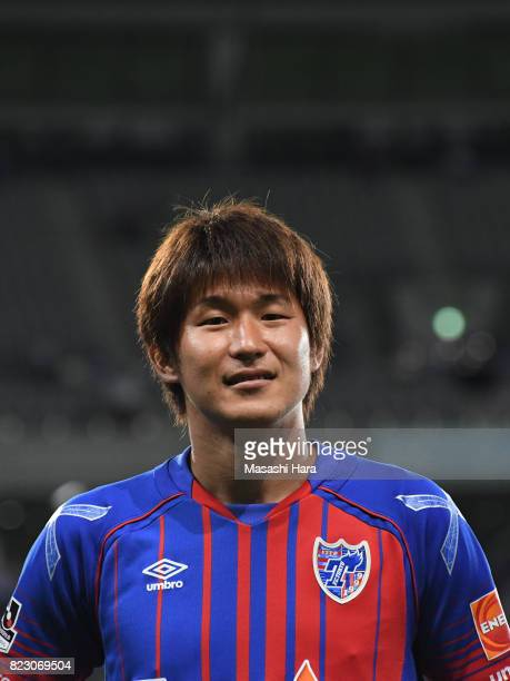 Kazunori Yoshimoto of FC Tokyo looks on after the JLeague Levain Cup PlayOff Stage first leg match between FC Tokyo and Sanfrecce Hiroshima at...