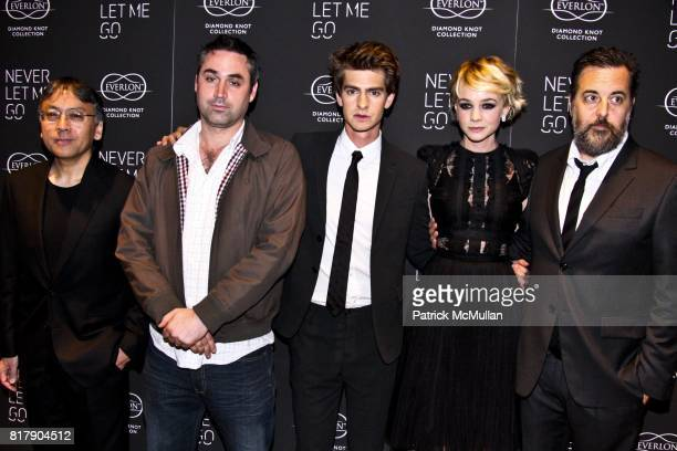 Kazuo Ishiguro Alex Garland Andrew Garfield Carey Mulligan and Mark Romanek attend Never Let Me Go Special Screening at Tribeca Grand Hotel on...