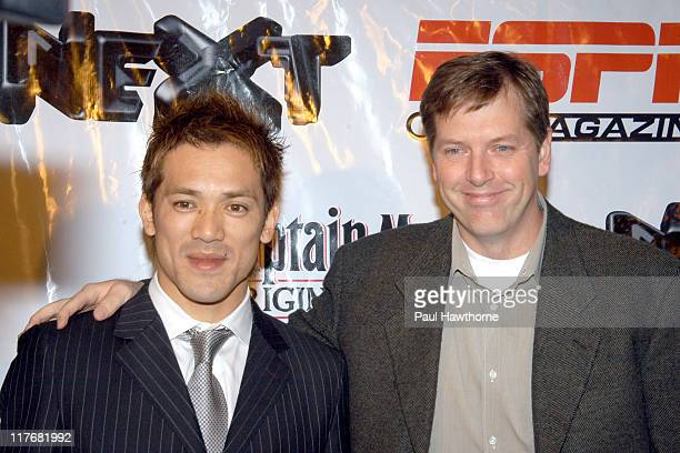 Kazuo Matsui and Geoff Reiss senior vice president and general manager of ESPN The Magazine e