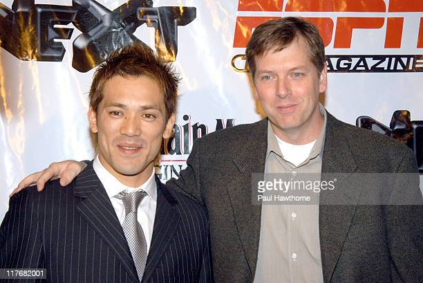 Kazuo Matsui and Geoff Reiss senior vice president and general manager of ESPN The Magazine