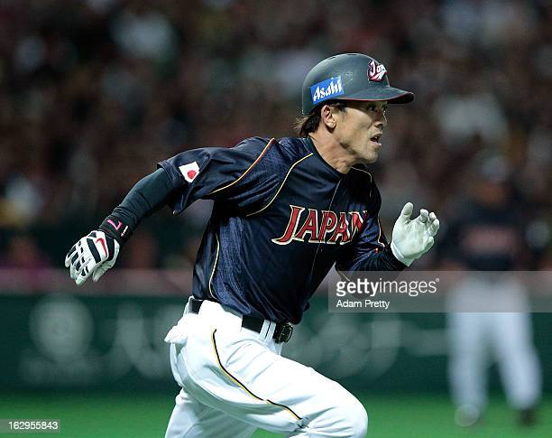 Kazuo Matsui of Japan in action during the World Baseball Classic First Round Group A game between Brazil and Japan at Fukuoka Yahoo Japan Dome on...