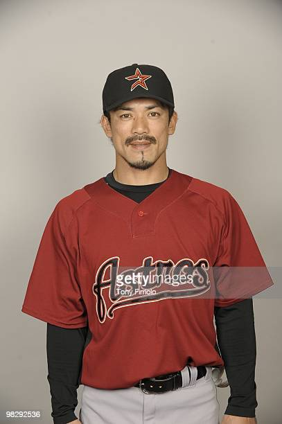 Kazuo Matsui of the Houston Astros poses during Photo Day on Thursday February 25 2010 at Osceola County Stadium in Kissimmee Florida