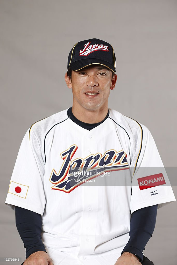 Kazuo Mtsui #7 of Team Japan poses for a headshot at the Rihga Royal Hotel on February 25, 2013 in Osaka, Japan.