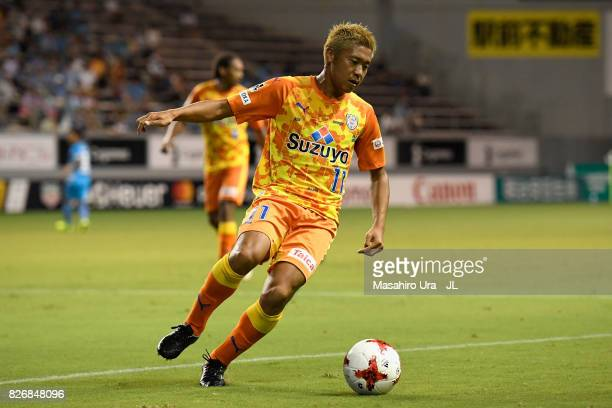Kazuya Murata of Shimizu SPulse in action during the JLeague J1 match between Sagan Tosu and Shimizu SPulse at Best Amenity Stadium on August 5 2017...