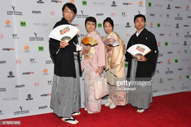 Kazuyo Sezaki and Masato Sakata of Rakugo The Movie attends the 45th International Emmy Awards at New York Hilton on November 20 2017 in New York City