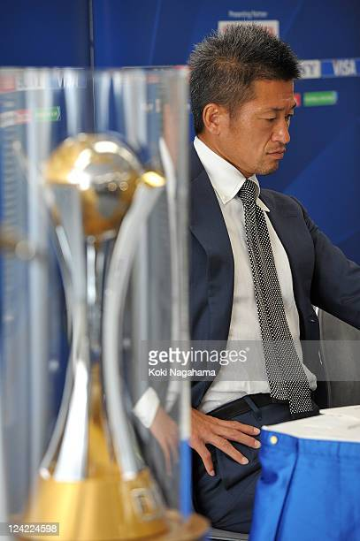 Kazuyoshi Miura attends the FIFA Club World Cup Ambassador appointment press conference at JFA House on September 9 2011 in Tokyo Japan