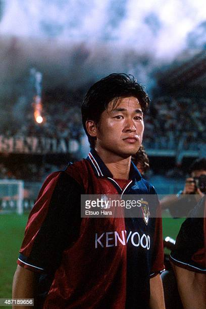 Kazuyoshi Miura of Genoa CFC is seen during the Italian Cup second round match between Genoa CFC and Cesena on August 31 1994 in Cesena Italy