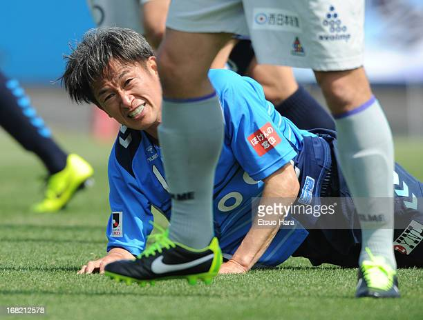 Kazuyoshi Miura of Yokohama FC in action during the JLeague second division match between Yokohama FC and Avispa Fukuoka at Nippatsu Mitsuzawa...