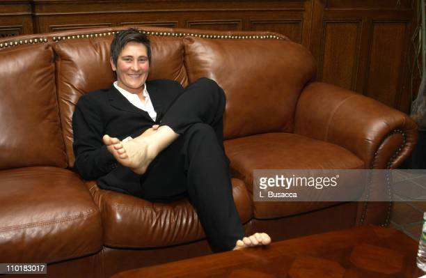kd lang backstage during Conde Nast and Audi Host Never Follow Bash at Gotham Hall in New York City New York United States