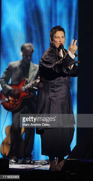 kd lang during 2005 Canadian Juno Awards Show at MTS Centre in Winnipeg Manitoba Canada