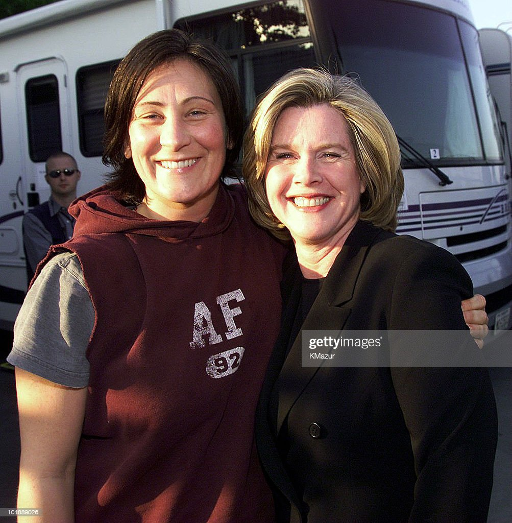 k.d. Lang & <a gi-track='captionPersonalityLinkClicked' href=/galleries/search?phrase=Tipper+Gore&family=editorial&specificpeople=204581 ng-click='$event.stopPropagation()'>Tipper Gore</a> backstage during Equality Rocks Concert at RFK Stadium - April 29, 2000 at RFK Stadium in Washington, D.C., United States.